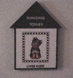 Yorkie House Magnet